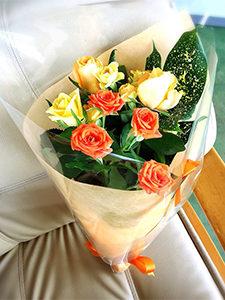 花束1チョットしたお礼を伝えたい時に。 発表会や卒園、卒業式にも